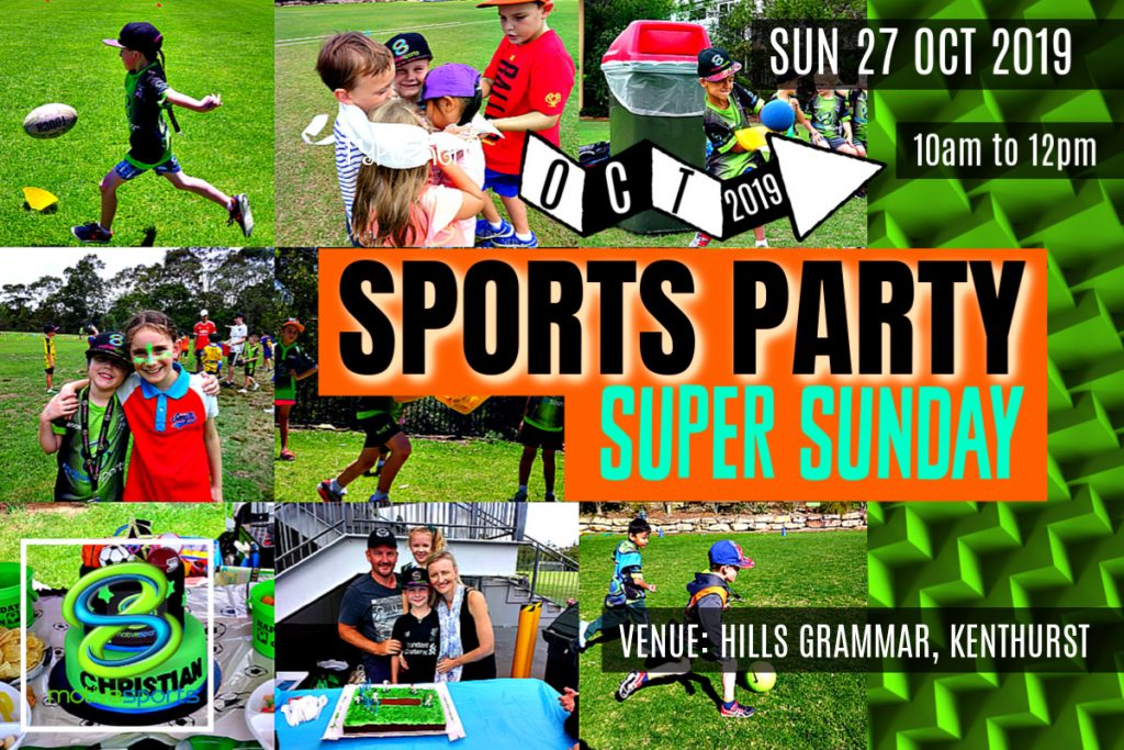 M8 – OCTOBER MORNING Super Sunday Sports Party SOLD OUT
